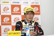決勝記者会見: GT300クラス優勝の安田裕信(GAINER)
