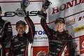 表彰式: GT300クラスで3位に入った道上龍と大津弘樹(Modulo Drago CORSE)