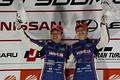 表彰式: GT500クラスで優勝した大嶋和也と山下健太(LEXUS TEAM LEMANS WAKO\'S)