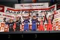 表彰式: GT500クラスの上位3チーム