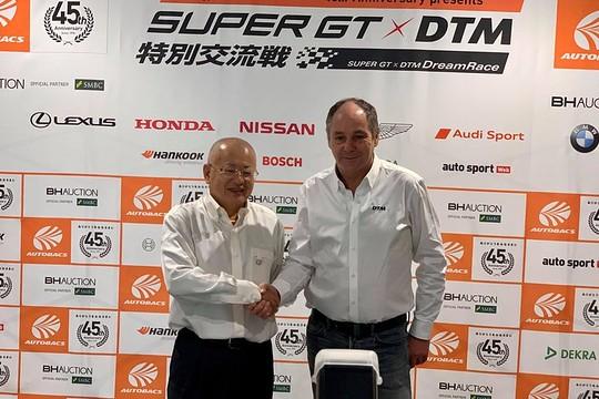 SGTxDTM交流戦: 坂東正明氏(GTA代表取締役)とゲルハルト・ベルガー氏(ITRチェアマン)の記者会見