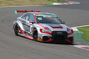 ST-TCRクラスポールポジションのヒロボン/松本武士/篠原拓朗組(BRP Audi Mie RS3 LMS)