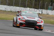 ST-TCRクラスポールポジションの太田侑弥/松本武士/篠原拓朗組(BRP Audi Mie RS3 LMS)