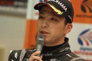 GT300クラスでポールポジションを獲得した蒲生尚弥