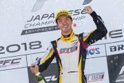 GT300クラスでポールポジションを獲得した菅波冬悟