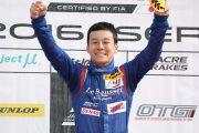 GT300クラスで優勝した川合考汰