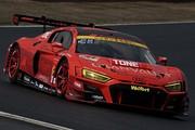 公式テスト岡山2回目: GT300クラストップタイムのクリストファー・ミース/川端伸太朗組(Hitotsuyama Audi R8 LMS)