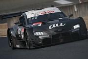 公式テスト岡山3回目: GT500クラス2位の関口雄飛/サッシャ・フェネストラズ組(au TOM\'S GR Supra)