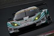 公式テスト岡山3回目: GT300クラストップタイムの加藤寛規/柳田真孝組(シンティアム・アップル・ロータス)