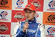 決勝記者会見: GT500クラスで優勝した塚越広大(KEIHIN NSX-GT)