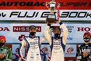 GT300クラスシリーズチャンピオンの藤波清斗/ジョアオ・パオロ・デ・オリベイラ組(KONDO RACING)