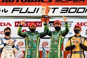 GT300クラスウィナーの吉田広樹/川合孝汰組(埼玉トヨペット Green Brave)
