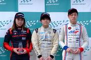 表彰式: 優勝・岡本大地、2位・下野璃央、3位・中村賢明