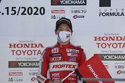 決勝記者会見: 決勝3位の名取鉄平(TODA RACING)