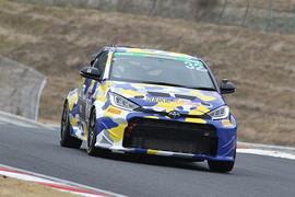 ST-2クラスポールポジションの井口卓人/佐々木雅弘/MORIZO組(ROOKIE Racing GR YARIS)