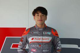 サタデー、サンデーシリーズともポールポジションを獲得した篠原拓朗(Audi Team Hitotsuyama)