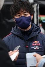 岡山公式テスト2回目: GT500クラストップタイムの大湯都史樹(TEAM Red Bull MUGEN)