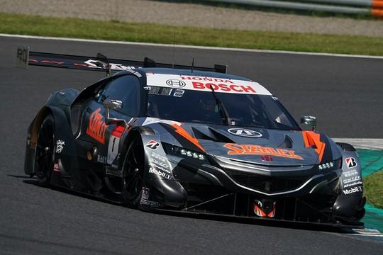 公式練習: GT500クラス2位の山本尚貴/牧野任祐組(1号車・STANLEY NSX-GT)