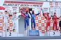 表彰式: GT500クラスのトップ3