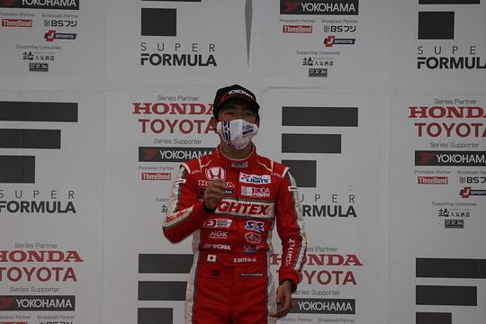 決勝2位の佐藤蓮(TODA RACING)