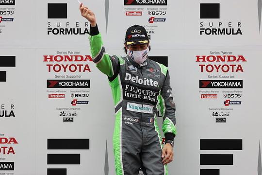 優勝したジュリアーノ・アレジ(TOM\'S)