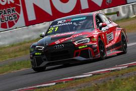 レース2: 決勝2位は篠原拓朗(Audi Team Hitotsuyama)