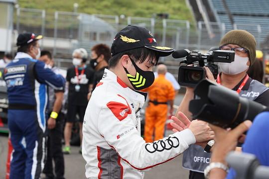 優勝した藤井優紀(Audi Team Hitotsuyama)